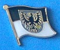 Prussia East Historical flag Pin, collect all ex german provinces and states flag pins, great for school projects,