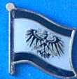 Prussia Flag Badge, Lapel Pin for your jacket, school project, historical talks at your seniour club,