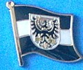 Prussia West Flag Pin, collect historical pins, learn history with flag pins, Anstecknadel, Hat Pin,
