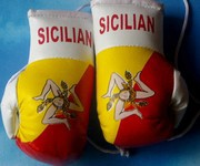 Sicilian Mini boxing gloves,rear view mirror mascot Malaysia,