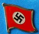 German 3rd Reich Flag Pin, Flag Badge Historical