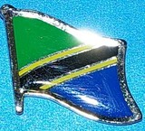 Tanzania Flag lapel pin,  flag badge, wear Tanzania flag pin on your lapel,
