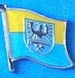 Upper Silesia Flag Badge, Lapel Pin ex german province, historical flag, collect all historical flag pins,