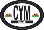 Wales International, Country Identification, Car Sticker