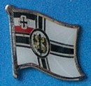 German World War One flag badge, lapel pin historical, collect and learn from history,