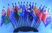 Desk Flag Display . Oceania country